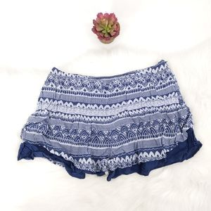 Free people high waisted blue shorts